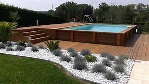 piscine hors sol bois liner gris affordable piscine bois With attractive prix liner piscine hors sol octogonale 6 piscine bois octogonale semi enterree
