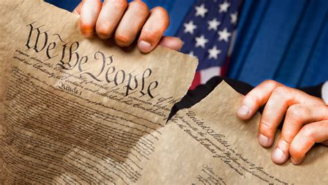 trump tearing    constitution peoples world
