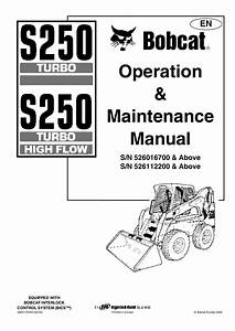 Bobcat S250 Repair Manual
