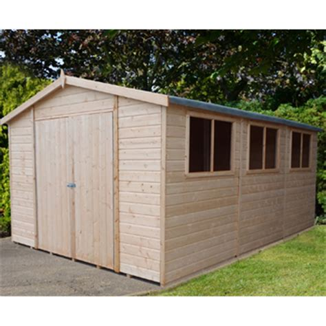 20 x 10 Tongue And Groove Wooden Garden Shed / Workshop