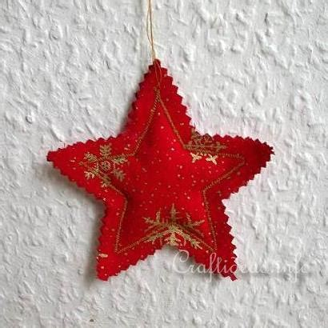 fabric star christmas tree ornament allfreesewingcom