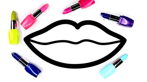 colouring lips coloring pages  lipstick colors youtube