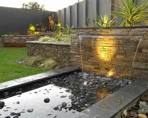 la deco exterieure avec une fontaine murale With amenagement petit jardin exterieur 9 la deco exterieure avec une fontaine murale archzine fr
