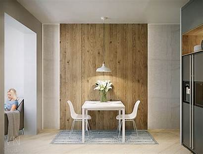 Minimalist Rustic Dining Rooms Interior Wall Studio