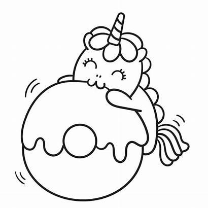 Unicorn Coloring Momlifehappylife Mythical Creatures Donut Unicorns