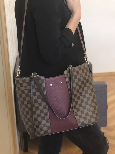 louis vuitton jersey taurillon damier ebene canvas bordeaux luxury bags