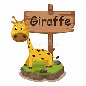 Animal En G : animal alphabet letter g for giraffe stock vector ~ Melissatoandfro.com Idées de Décoration