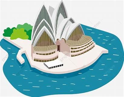 Opera Sydney Cartoon Australia Vector Clipart Building