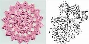 5 Circle Motif Crochet Diagrams  U22c6 Crochet Kingdom