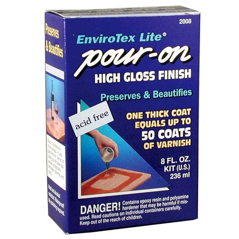 envirotex lite pour  high gloss finish