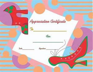 walking good certificate of appreciation template With walking certificate templates