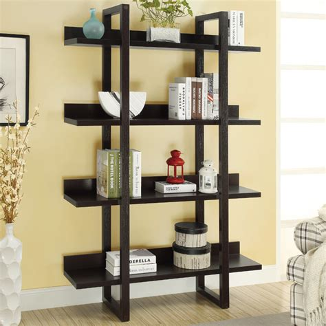 Contemporary Etagere by Cappuccino 71in H Open Concept Display Etagere