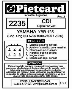 Cdi Yamaha Ybr 125 K 6 Hilos 2235 P