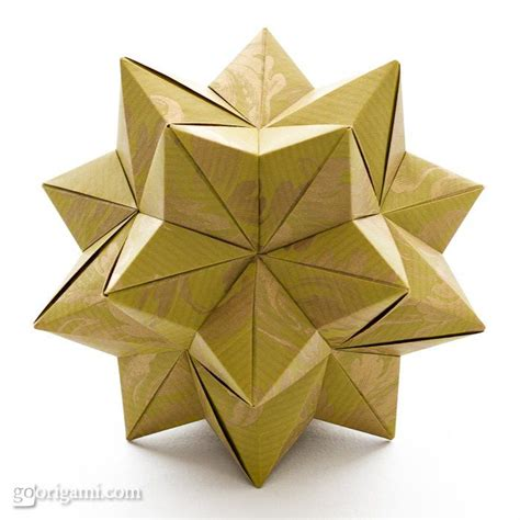 how to make 3d star and balls by tomoko fuse paper cardboard books origami modular origami and craft
