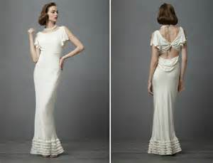 vintage inspired wedding dresses vintage wedding ideas 1930s bridal style gowns bhldn onewed