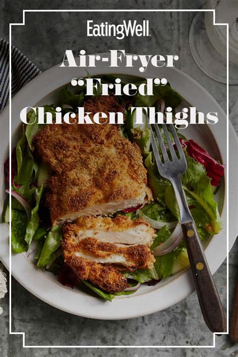 chicken fryer thighs air fried recipe marinated recipes breaded deep crispy thigh delicious