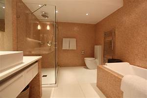 decoration salle de bain saumon With carrelage rose salle de bain