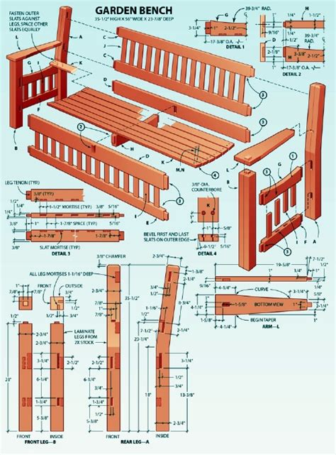 wood    garden bench plans blueprints