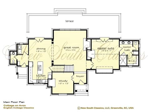 house plans with vaulted great room south classics cottage on avon