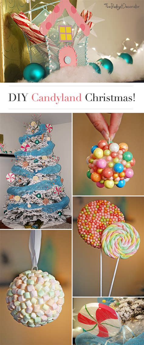 Diy Candyland Christmas Decorations & Tree • The Budget