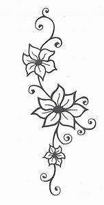 Photos: Simple Flower And Vine Sketch, - DRAWING ART GALLERY