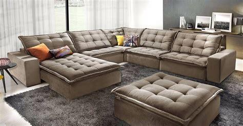 sofa de canto anitta retratil  reclinavel promocao de