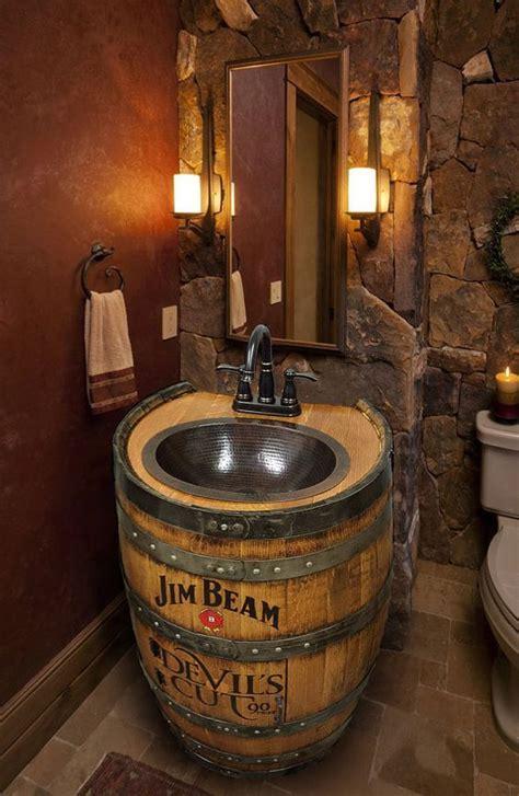 barrel sink ideas  pinterest  home bar