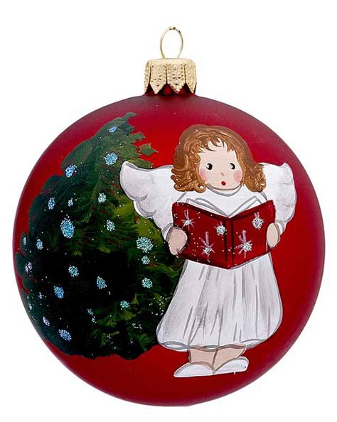 red ball singing angel personalized ornament