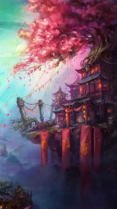 Fantasy Flying Lines Landscapes Landscape Whimsical Romantic