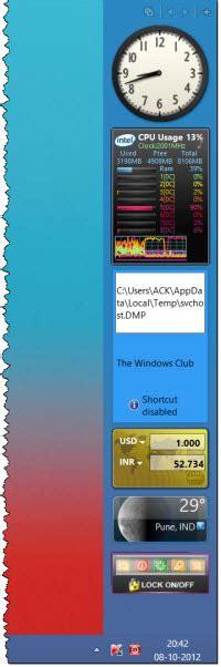 gadgets bureau windows 8 add sidebar and desktop gadgets in windows 8