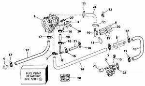 Johnson Fuel Pump Parts For 1993 50hp Vj50beletb Outboard