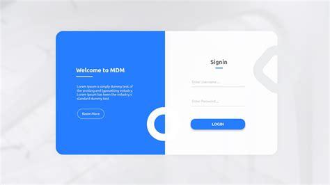 minimal login page 깔끔 login design login page design