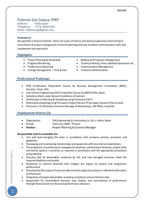 Social Services Program Manager Resume by Cv Project Manager Pmp