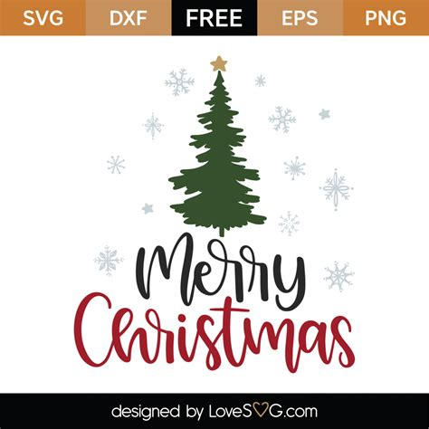This pack includes a total of 10 christmas trees variations this is a commercial and personal use svg file and it's perfectly compatible with cricut explore, silhouette cameo, and most cutting machines. Free Merry Christmas SVG Cut File - Lovesvg.com