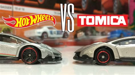 hot wheels  tomica lamborghini veneno comparison youtube