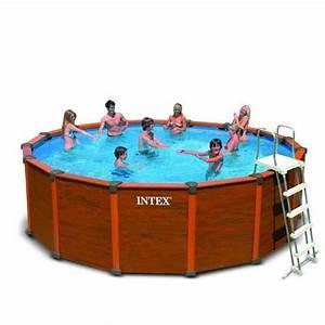 Piscine Tubulaire Hors Sol : piscine hors sol tubulaire sequoia marron ~ Melissatoandfro.com Idées de Décoration