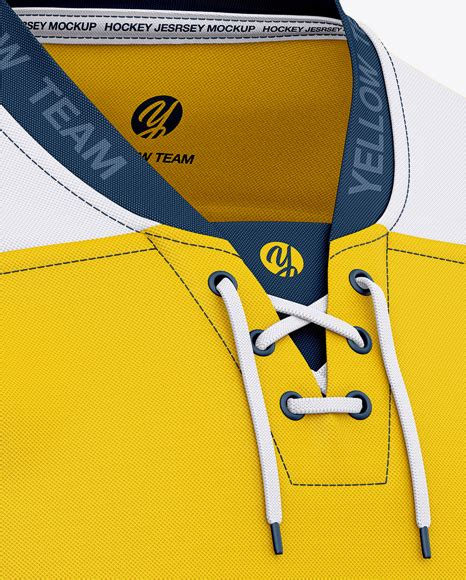 Your resource to discover and connect with designers worldwide. Men's Lace Neck Hockey Jersey Mockup - Front Half-Side ...