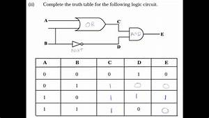 Logic Gates Truth Tables Questions