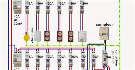 branchement electrique cuisine schéma electrique pour installation domestique et