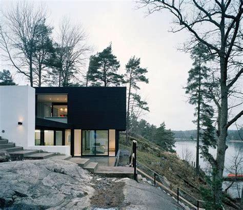 villa wohnzimmer modern minimalistisches hanghaus aus schweden