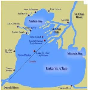 Lake St. Clair Michigan Map