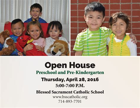 blessed sacrament school 465 | Preschool%20Open%20House%20Postcard