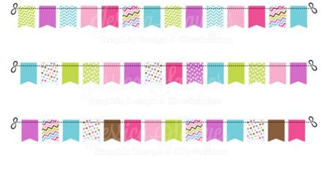 instant  girls straight bunting banners banner
