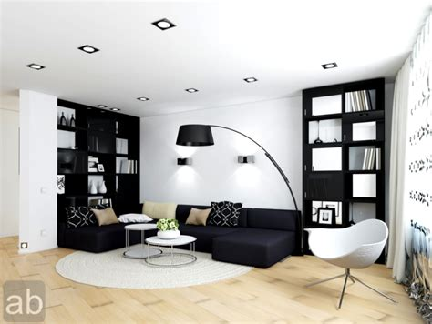 Modern Living Room Black