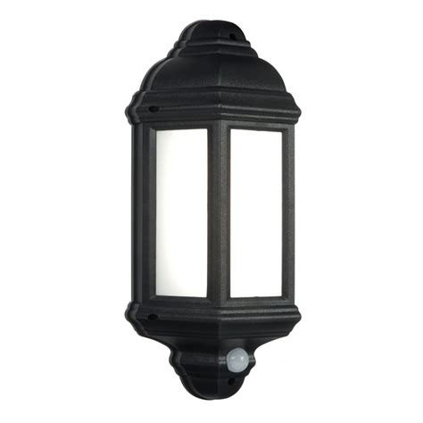 54553 halbury led pir outdoor wall light automatic
