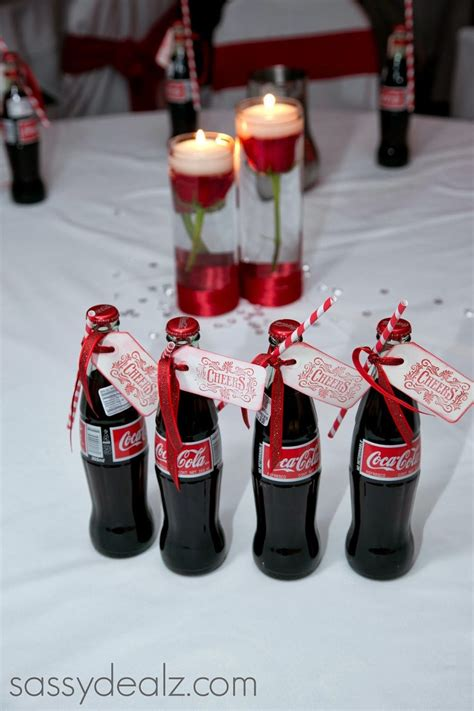 diy coca cola bottle wedding favor idea coke bottle