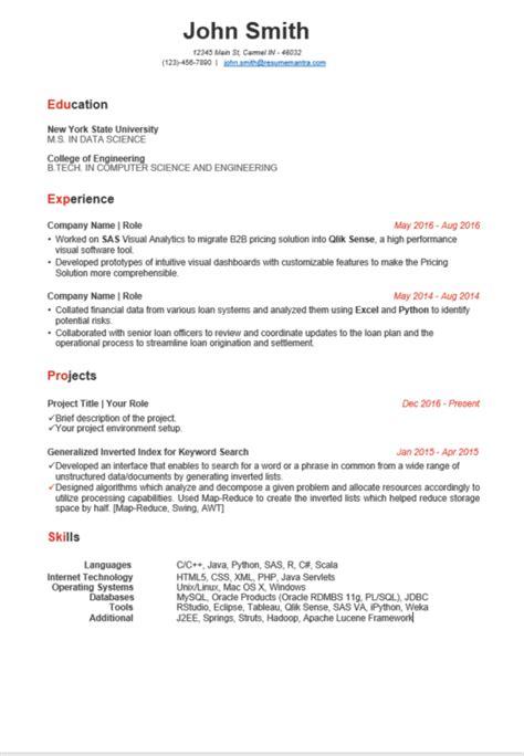 resume templates free resume builder online free