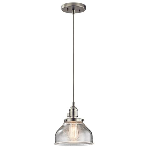 kichler 43850ni avery brushed nickel mini pendant lighting