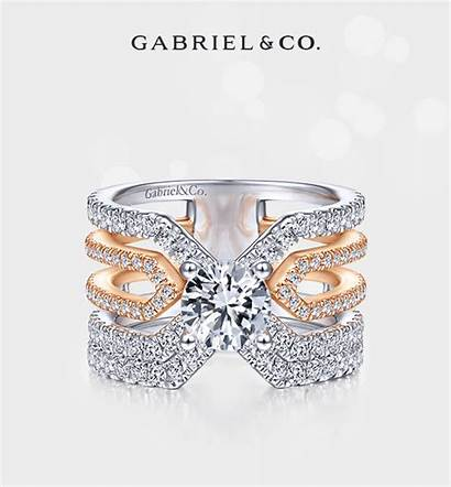 Ring Shank Rings Engagement Round Diamond Split