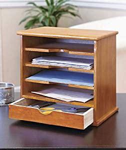 Amazoncom  4slot Natural Wood Mail Organizer  Mail